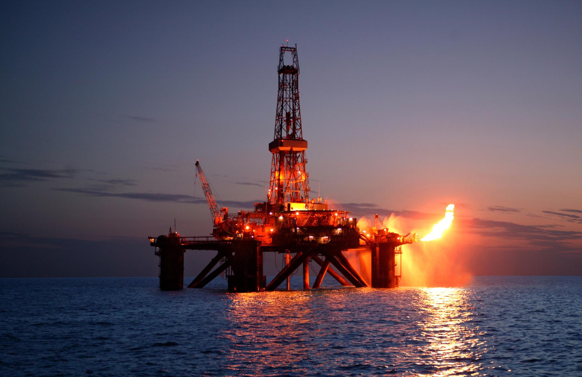offshore plant fire